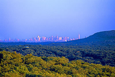 New York skyline from Ramapo Mountains, New Jersey Highlands